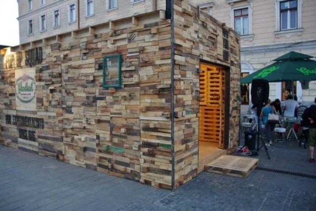 Pallet Wood Art Pavilion | Wooden Pallet Furniture